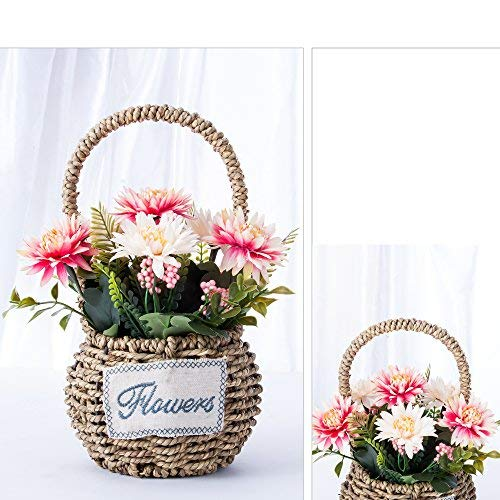 chuangxindaye Artificial Potted Flowers Rattan Basket Plant for Home Decor Party Wedding Garden Office Patio Decoration from chuangxindaye
