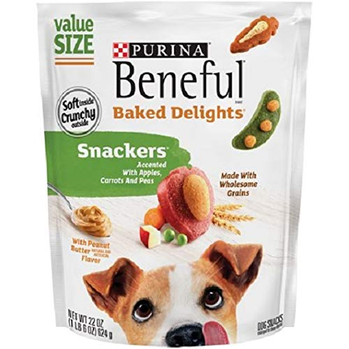 - Purina Beneful Baked Delights Snackers Dog Snacks 22 oz. Pouch