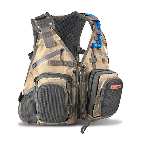 Anglatech Fly Fishing Backpack Vest Combo Chest Pack for Tackle Gear and Accessories, Includes Water Bladder, Adjustable Size for Men and Women (Best Fly Fishing Vest)
