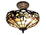 Dale Tiffany TH12151 Cabrini Semi Flush Mount Light Fixture - Antique Bronze