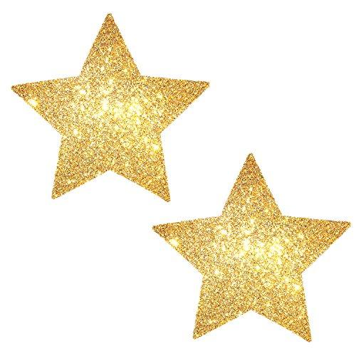 Neva Nude Golden Fairy Dust Glitter Starry Nights Nipztix Pasties Nipple Covers