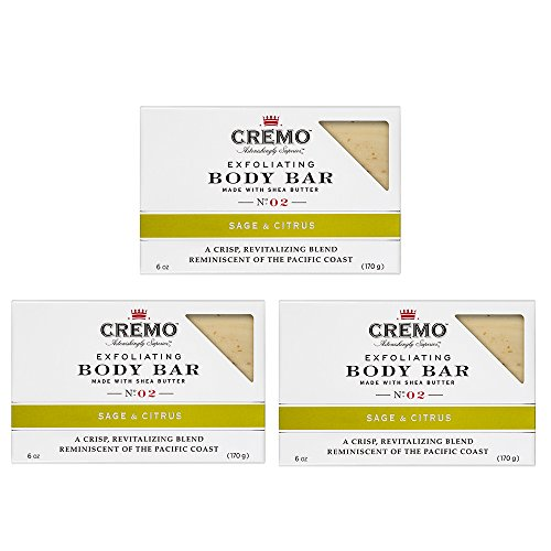 Cremo Exfoliating Body Bar With Shea Butter, Sage & Citrus, 6 oz. (pack of 3)