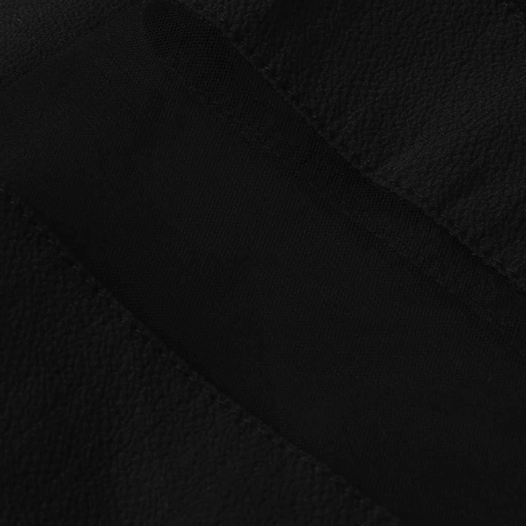 UFACE 2019 Damen Chiffon-Kleid Dreiviertelarm Shirtkleid Casual Spitzenkleid