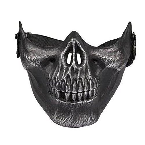 skull skeleton airsoft paintball half
