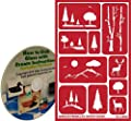 Scenic Landscape Glass Etching Stencils with Trees, Mountains & Deer + How to Etch CD