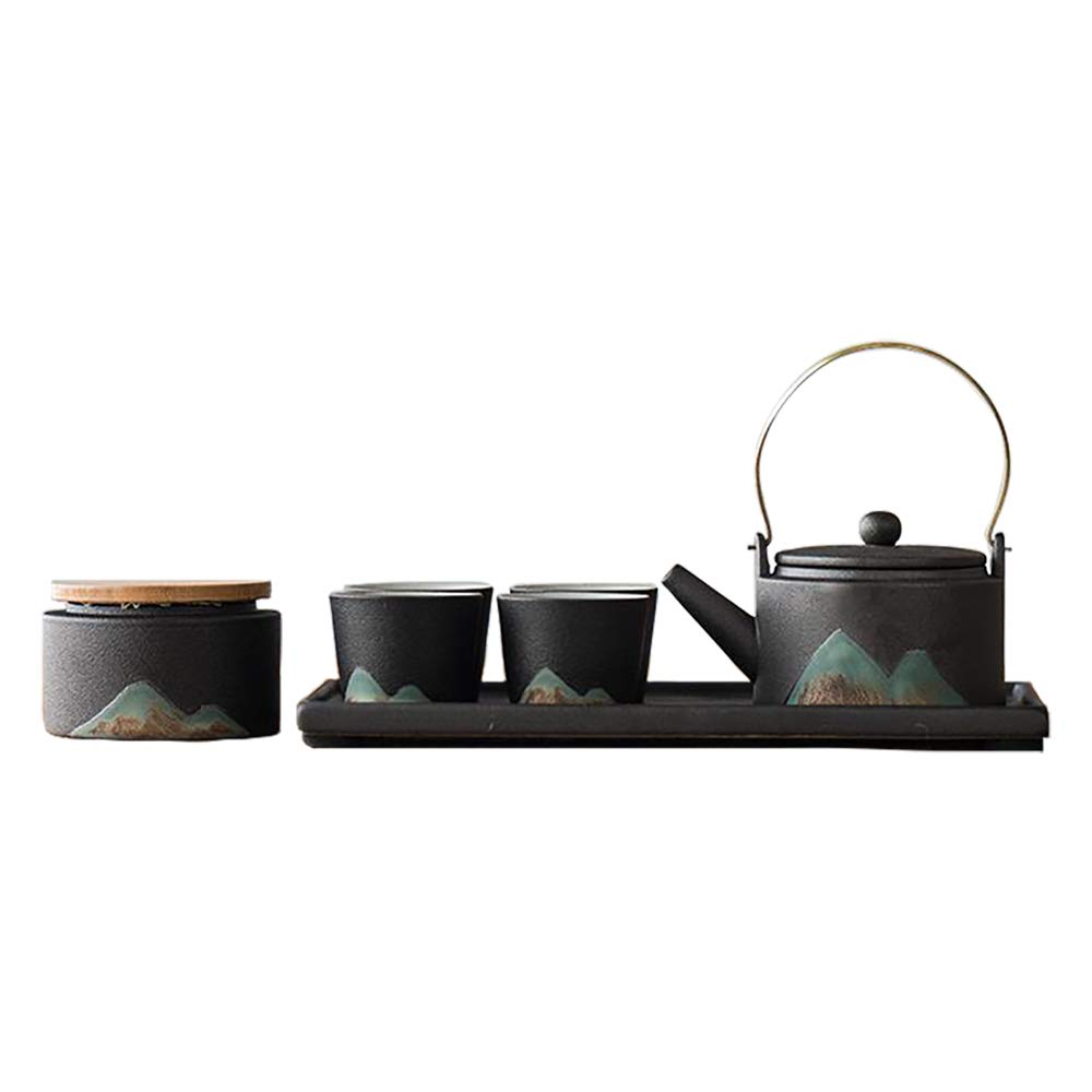 Japanese-style Pottery Tea Set,A Complete Set of Gift Boxes