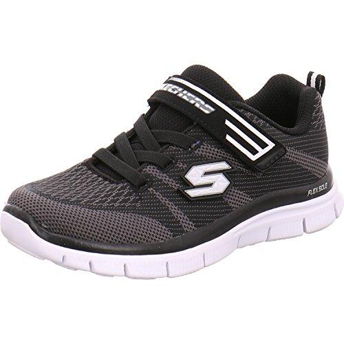 Skechers de Grofa Entrenamiento Infantil blanco/negro