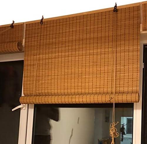 すだれ ロールスクリーン フィッティングフック付き屋外ローラーシェード、ウィンドウ/ガゼボ/バルコニーロールアップブラインド、炭化させた竹、90センチメートル/ 110センチメートル/ 130センチメートル/ 150センチメートル幅 (Size : 150×270cm)
