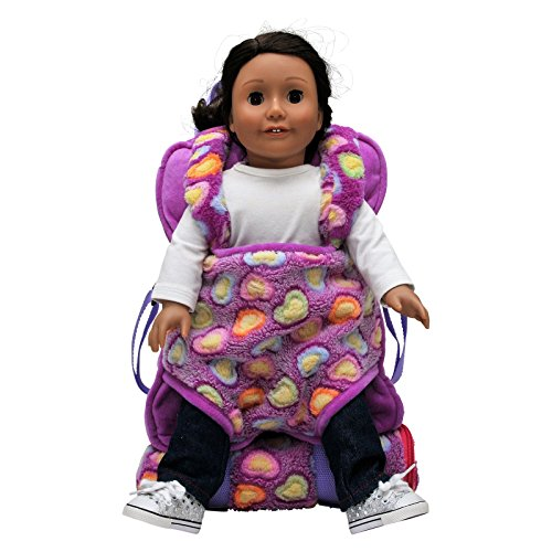 df9baf63a72 The Queen s Treasures Purple Soft Fancy Baby Doll Backpack Carrier and Sleeping  Bag for 18 inch