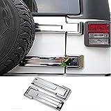 Car ABS Chrome Trim ABS Rear Spare Tire Carrier Hinge Kit for 2008-2017 Jeep Wrangler JK JKU