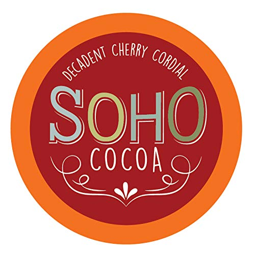 Soho Cherry Cordial Hot Chocolate Pods for Keurig K-Cup Brewers, 40 Count ()