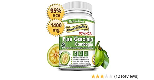 Pure Garcinia Cambogia 95% HCA Tablets - Best Weight Loss Supplement