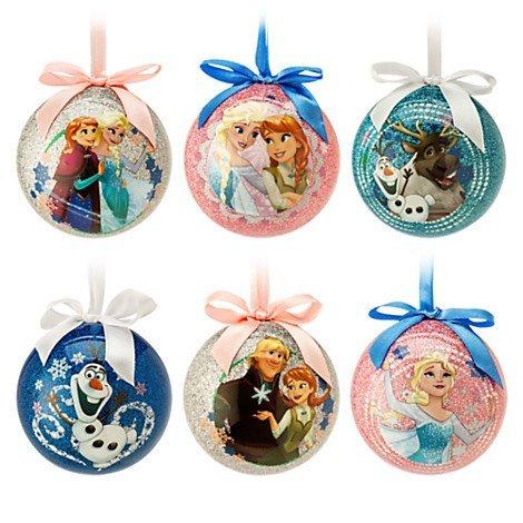Disney Store Frozen Sketchbook Ball Ornament Set