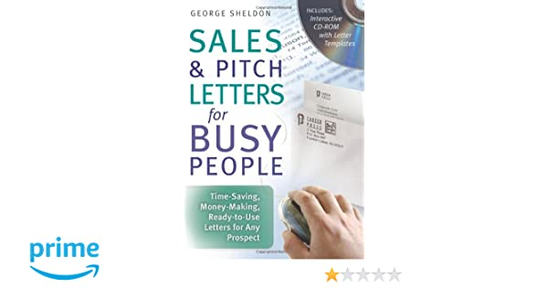 Sales Pitch Letters For Busy People Time Saving Money Making