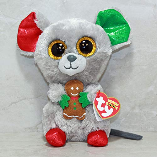 TY Beanie Boo Plush - Mac the Mouse 15cm (Christmas Exclusive)]()