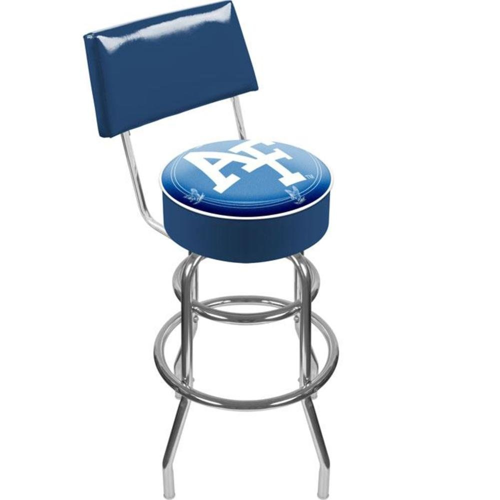 Air Force Falcons™ Padded Swivel Bar Stool with Back