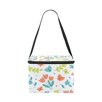 063fdb125765 Amazon.com: Large Insulated Lunch Bag, Colorful Butterfly Cooler ...