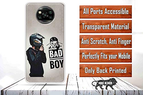 OYESTUFF Bad Boy Soft Silicone Designer Printed Full Protection Back Case Cover for Poco X3 2021 July Reliable Protection - This Desginer cover provide full 360* protection to the mobile, As, It covers from the four sides of your phone. This cover helps to protect your phone from Accidental Drops, Bumps and Scratches. We use high-definition ink and equipments. Don't worry, each case has an extremely slim-line profile and adds minimal bulk to your device, Due to the nature of different monitors/tablets/smart phones, the product may look slightly different in person being a handmade item.