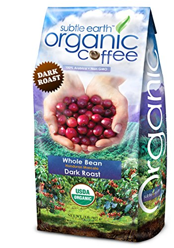 2LB Cafe Don Pablo Subtle Earth Organic Gourmet Coffee - Dark Roast - Whole Bean Coffee - USDA Organic Certified Arabica Coffee by CCOF - (2 lb) ()