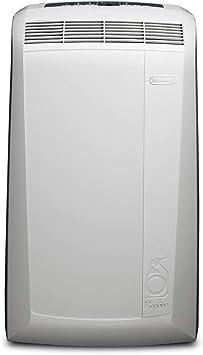 DeLonghi Pac N90 Eco Silent Aire Acondicionado Portátil, Capacidad de Refrigeración 9800 BTU, Ventilador y Deshumidificador, Control Remoto, Fácil Transporte, Blanco ...