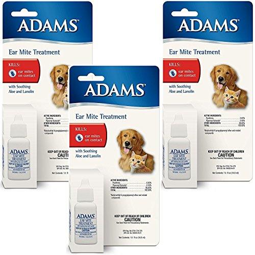 (3 Pack) Adams Ear Mite Treatment, .5oz Each -