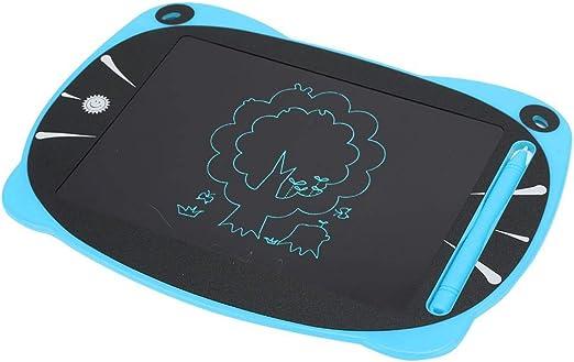 ライティングタブレット、ライティングパッド、非放射性LCD耐久性のあるボタン1つを削除する8.5インチの大きな顔の猫の耳の形子供の絵を描くための誕生日プレゼント(blue)