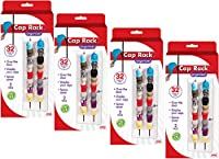 Cap Rack - Holds up to 16 Caps for Baseball Hats, Ball Caps - Best Over Door Closet Organizer for Men, Boy or Women Hat Collections - Display Racks With Clips, Perfect Holder and Storage
