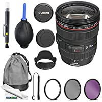 Canon EF 24-105mm f/4L IS USM Lens + Expo-Basic Accessory Bundle