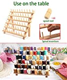 60 Spools Wooden Thread Rack Thread Holder
