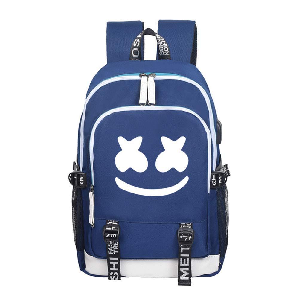 Sac /à dos imprim/é avec des sacs d/école pour enfants DJ Boys Childs School Rucksack Unisexe Sac /à dos pour ordinateur portable Hommes Voyage Sac /à dos avec un port de chargement USB black