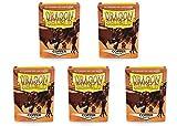 5 Packs Dragon Shield Matte Copper Standard Size 100 ct Card Sleeves Value Bundle!