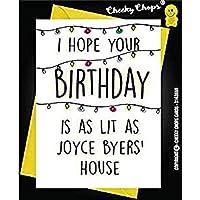 Birthday Card Stranger Things, Joyce Byers Lit c987