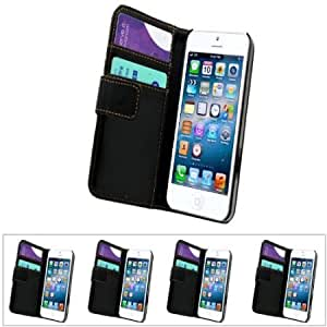 Quaroth SAMRICK - Apple iPhone 5 5G & The New iPhone 5th Generation - Pack of 5 - Black Executive Specially Designed Leather...