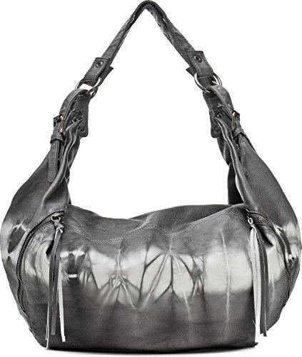 MIYA BLOOM, bolsos de señora, mochilas, bandoleras, bolsos de hombro, bolsas vagabundos, 37.5 x 37 x 5 cm (AN x AL x pr), color: antracita antracita