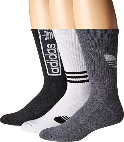 Adidas Graphic - adidas Originals Men's Originals Logo Graphic 3-Pack Crew Sock Black/Onix Marl/White/Onix Onix/Light Onix Marl/White Large
