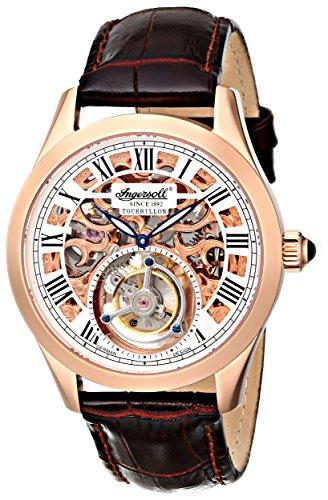 Ingersoll Men's IN5102RG Golden Spike Tourbillon Analog Display Mechanical Hand Wind Brown Watch