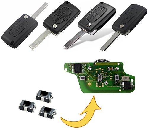 myshopx Microknop afstandsbediening sleutel afstandsbediening knop Micro SMD knop autosleutel MP08K