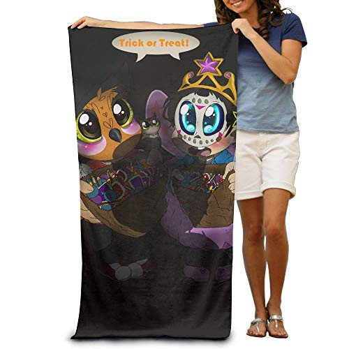 (workessehwe Cute Child Trick Or Treat in Halloween Adult Beach Towels Fast/Quick Dry Machine Washable Lightweight Absorbent Plush Multipurpose Use Quality Towels for)