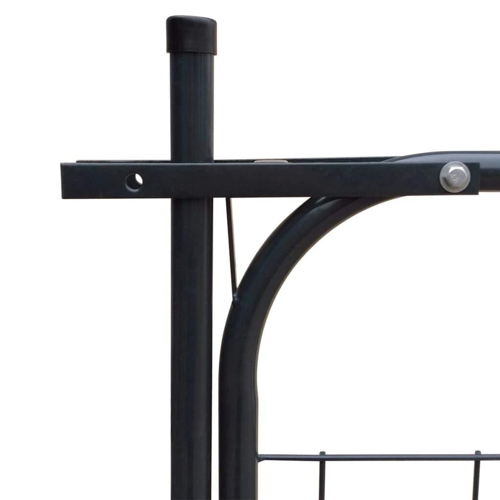 gris antracita panel de puerta puerta de valla de metal 100 x 100 cm antracita vidaXL 142293 Puerta de valla de jard/ín