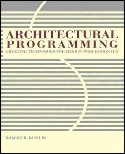 Architectural Programming: Creative Techniques For Design Professionals 1st  Edition