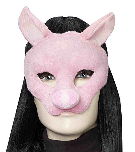 Forum Novelties Women's Plush Pig Mask, Pink, One Size