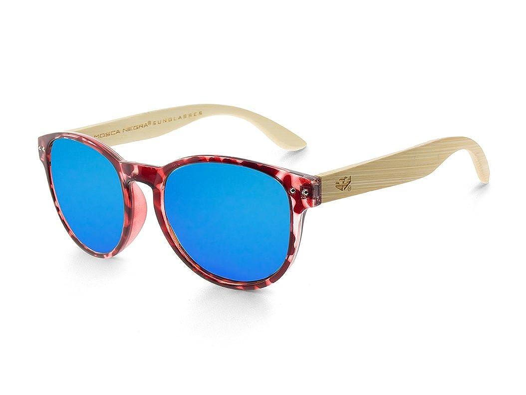 Gafas de madera MOSCA NEGRA modelo MIX OMEGA Leopard X4 Polarized - Wood Sunglasses: Amazon.es: Ropa y accesorios