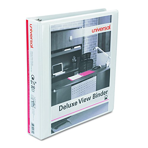 (Universal Deluxe Round Ring View Binder, 1-1/2