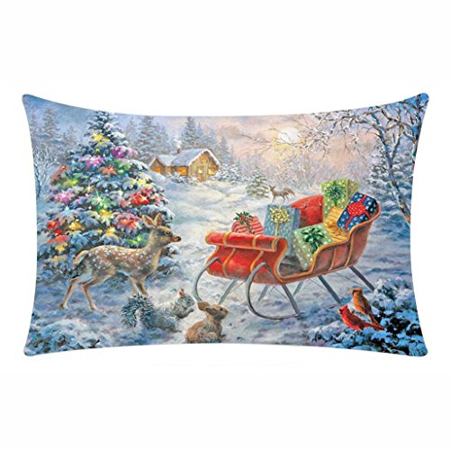 Di Gettare Santa Copertina Natale Jimmackey Cuscino Pupazzo Decor Buon B Neve Federa Rettangolo PqwAn8XH80