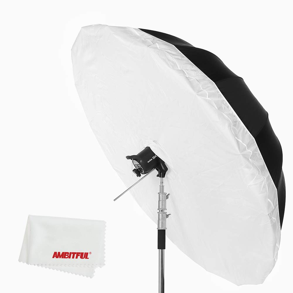 Godox 写真スタジオ 70インチ178 cmブラックホワイト反射傘スタジオ照明傘付き大きな拡散カバー布 (Godox 70cm 銀と白傘 + 拡散カバー布)  Godox 70cm 黒と銀傘 + 拡散カバー布 B07SJFP4GL