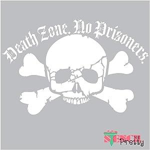 Skull & Bones Stencil - Death Zone No Prisoners Skeleton Best Vinyl Large Stencils for Painting on Wood, Canvas, Wall, etc.-XS (11