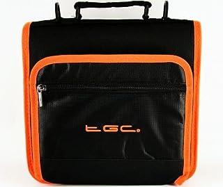 Neuf Noir de Jais et Hot Orange Tond et doublures Deluxe Double Compartiment épaule Sac de Transport pour la Tablette Viewsonic ViewPad E72–Housse et Accessoires