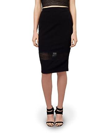 Falda de encaje negro con detalle de encaje: Amazon.es: Ropa y ...