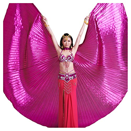 Pilot-trade Women's Professional Belly Dance Costume Angle Isis Wings No Stick Dark Pink