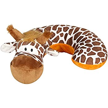 Animal Planet Travel Pillow for kids, Kids Travel Pillow, Neck Support Pillow, Pillow for Kids, Toddler Car Seat Pillow, Baby Head Support, Child Travel, Kids Neck Pillow, Giraffe, Brown